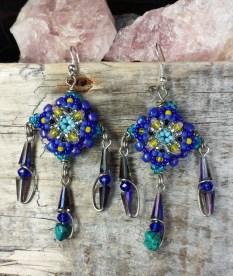Blue Patience in Bloom Drop Earrings