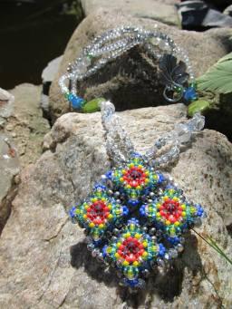 Multi-Color Diamond Patience in Bloom Necklace
